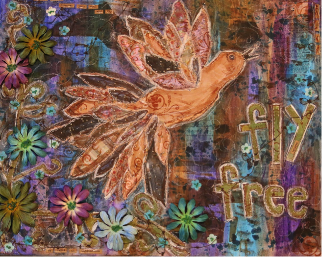 Fly Free (Mixed Media)