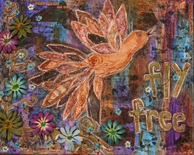Fly Free (Mixed Media)